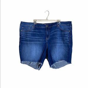 Torrid Distressed Jean Hi Rise Shorts
